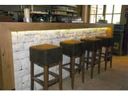 Natural stone wall tiles BIANCO VERDE LM - B&B