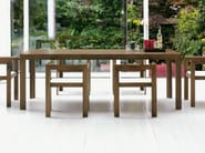 Rectangular wooden dining table TECNO - LINFA DESIGN