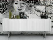 Wooden sideboard with doors INCISA - LINFA DESIGN