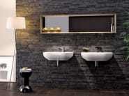 Countertop wall-mounted ceramic washbasin with overflow PASS 62 | Wall-mounted washbasin - CERAMICA FLAMINIA