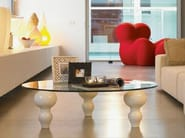Round crystal coffee table GIUNONEst GLASS - LINFA DESIGN