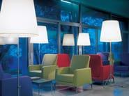 Fabric armchair with armrests ALPHABET - HI OMEGA | Armchair - Segis