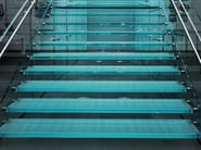 Anti-slip glass flooring UNICOLOR | Anti-slip flooring - Brecci by Eidos Glass