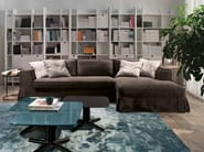 Sofa with removable cover with chaise longue GUINN | Sofa with chaise longue - Meridiani