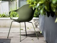 Polyurethane chair with armrests ELEPHANT | Polyurethane chair - Kristalia