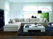 Sectional upholstered modular sofa with removable cover