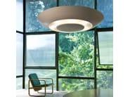 Design indirect light fluorescent methacrylate pendant lamp