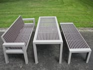 Stainless steel and PVC Bench with armrests