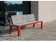 Stainless steel and PET Bench with back COMFONY 10 | Bench with back - BENKERT BÄNKE