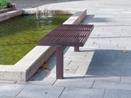 Stainless steel and PVC Bench