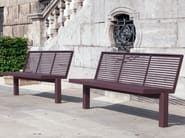 Stainless steel and PVC Bench with back