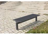 Stainless steel Bench SIARDO L 40 R | Backless Bench - BENKERT BÄNKE
