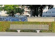 Sectional stainless steel Bench SIARDO S 20 R | Bench - BENKERT BÄNKE