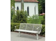 Stainless steel Bench with armrests SIARDO 400 R | Bench with armrests - BENKERT BÄNKE