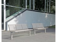 Stainless steel Bench with back SIARDO L 40 R | Bench with back - BENKERT BÄNKE