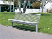 Stainless steel Bench with back