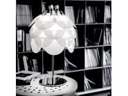 Design halogen brushed steel table lamp