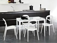 Stackable plastic chair