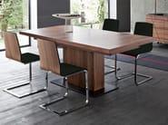 Cantilever upholstered wooden chair JULIET-SL - DOMITALIA