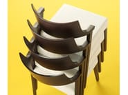 Upholstered wooden chair LIRICA - DOMITALIA