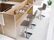 High swivel upholstered stool AFRO-SG - DOMITALIA