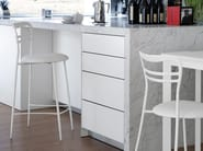 High steel stool DORA-SGB - DOMITALIA