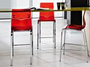 High steel stool