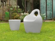 Plastic garden armchair with armrests BABA' - DOMITALIA