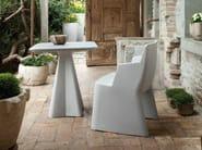 Low square polyethylene coffee table COMPASS - DOMITALIA