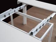 Extending dining living room steel table