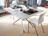 Height-adjustable rectangular coffee table