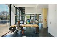 Swivel trestle-based chair CATIFA 53 | Trestle-based chair - Arper
