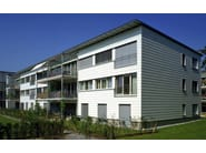 Dry-laid cement and fibre cement sheet MODULA - SWISSPEARL Italia