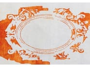 Handmade rug FONTENAY NEW AGE TANGERINE - EDITION BOUGAINVILLE