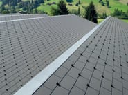 Roofing panel and sheet in fibre cement