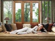 Aluminium and wood casement window EKU® WOODART TT - PROFILATI