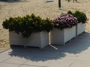 Engineered wood planter Flower Pot - plasticWOOD.it