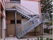 Metal fire escape staircase PROJECT - SO.C.E.T.