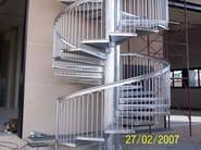 Metal fire escape staircase Steel Spiral staircase - SO.C.E.T.