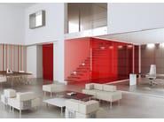 Glass and aluminium office partition ALLinONE - MASCAGNI