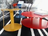Round metal bistro side table for living room FREELINE 2 - MEME DESIGN