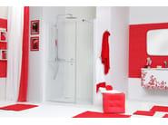 Niche shower cabin with hinged door WEB 5.0 B1F - MEGIUS