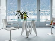 Round glass table LAMBDA ROUND - SOVET ITALIA
