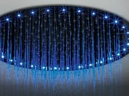 Overhead shower with built-in lights