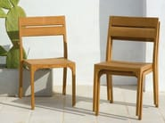 Stackable teak garden chair VILLAGE | Garden chair - Ethimo