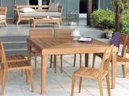 Square garden table