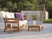 Low Square teak garden side table VILLAGE | Square garden side table - Ethimo