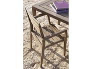 Stackable teak garden chair with armrests STELLA | Garden chair with armrests - Ethimo