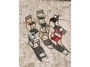 Stackable teak garden chair with armrests STELLA   Garden chair with armrests - Ethimo