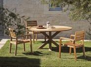 Round teak garden table CRONOS | Round garden table - Ethimo